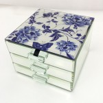 Blue Rose Jewellery Box