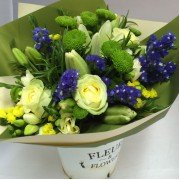 Posy with Tall Fleur Vintage Vase