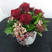 6 Roses Ceramic – Round