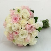 Pink and White Roses Posy