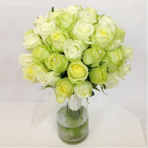 Soft Whites Roses Posy